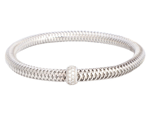 Roberto Coin 18K White Gold and Diamond Primavera Bracelet