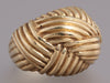 14K Yellow Gold Basket Weave Dome Ring
