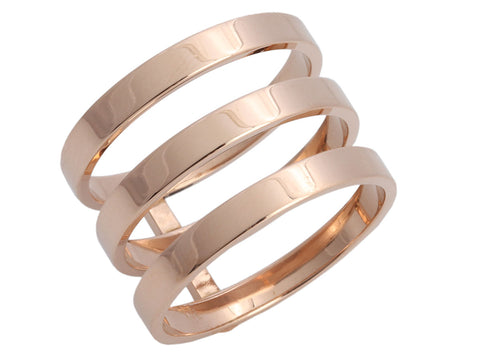 Repossi 18K Rose Gold Three-Row Berbère Band Ring