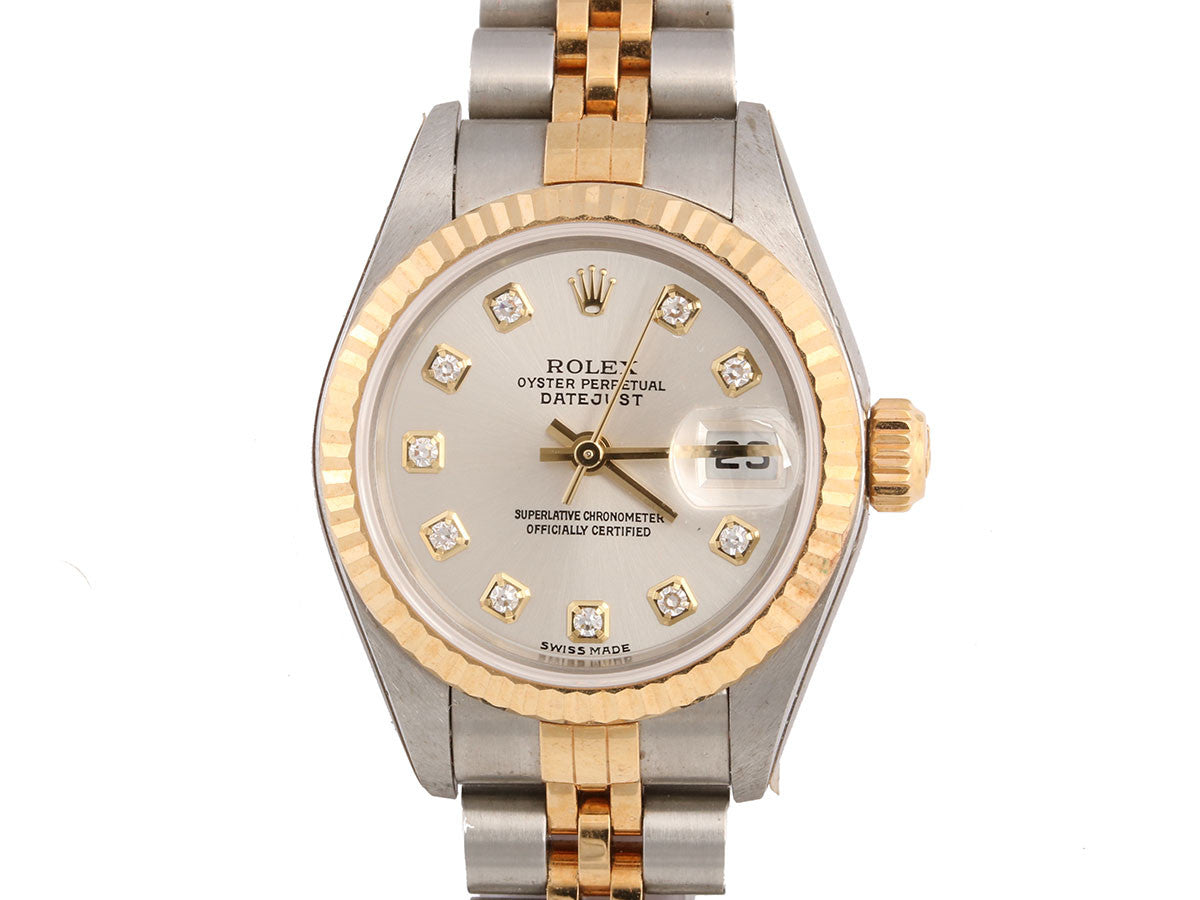 Rolex Ladies Two Tone Oyster Perpetual Datejust Watch