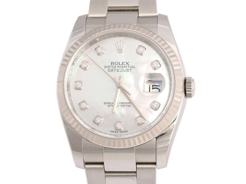 Rolex Diamond Oyster Perpetual Datejust Watch 36