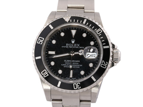 Rolex Stainless Steel Submariner Watch 41mm