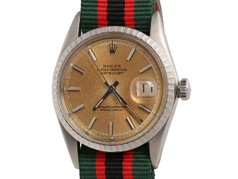 Rolex Vintage Mens Stainless and Webbing Datejust Watch 26mm