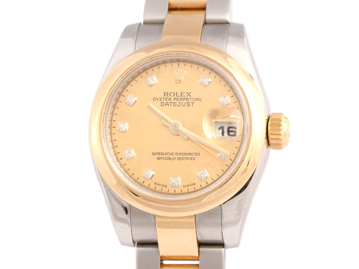 Rolex Ladies Two Tone Oyster Perpetual Datejust Watch 26mm