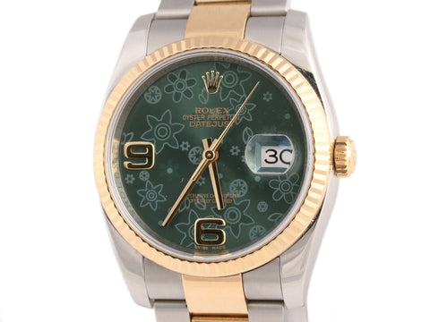 Rolex Mens Two-Tone Oyster Perpetual Datejust Watch 36mm