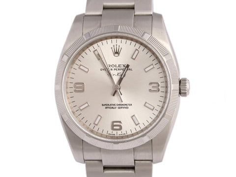 Rolex Stainless Steel Oyster Perpetual Air-King Watch 35mm