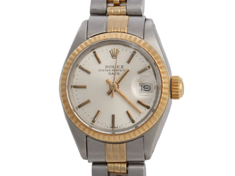 Rolex Vintage Ladies Two-Tone Oyster Perpetual Date Watch 26mm