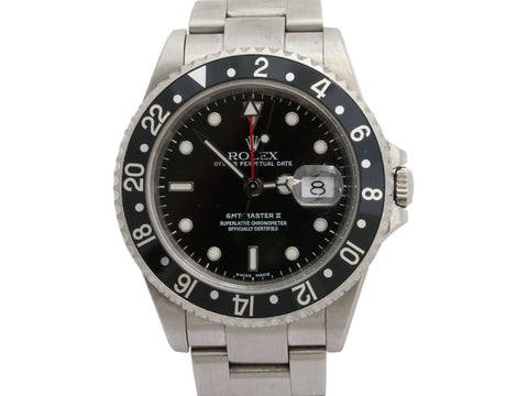 Rolex Stainless Steel Mens GMT-Master II Watch 40mm