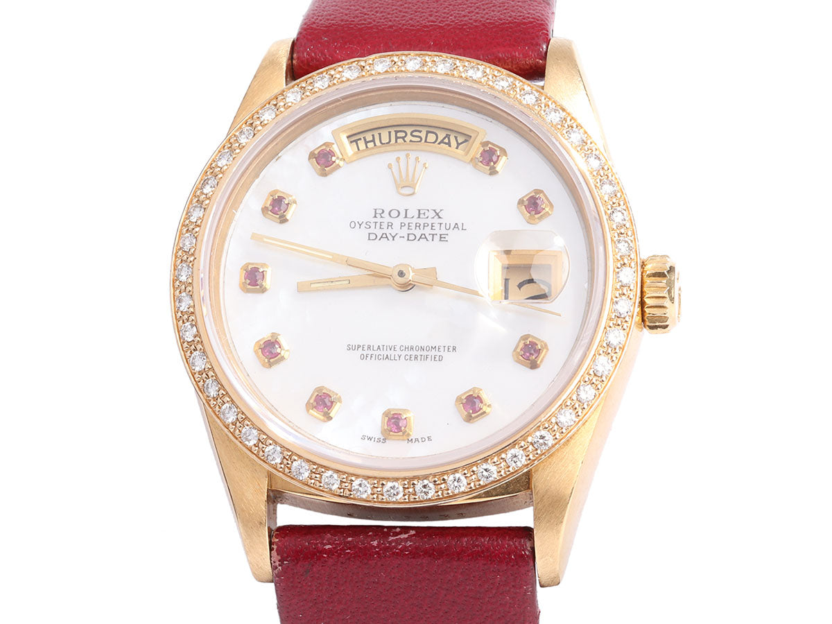 Rolex 18K Yellow Gold Diamond Oyster Perpetual Datejust Watch 36mm