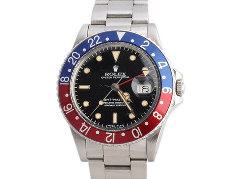 Rolex Stainless Steel Pepsi GMT-Master Watch 41mm