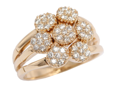 Sonia Bitton 14K Yellow Gold Diamond Flower Flex Ring