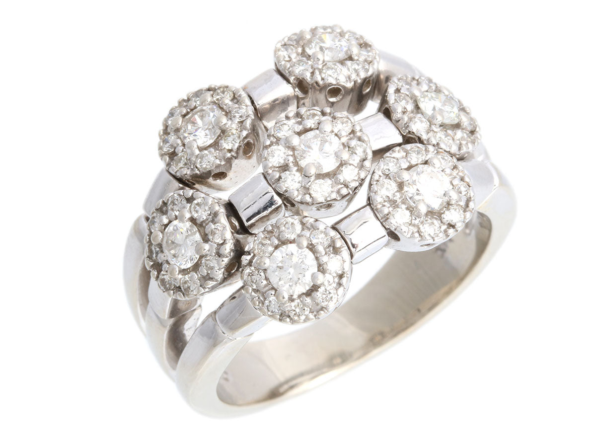 Sonia Bitton 14K White Gold Diamond Galerie de Bijoux Ring