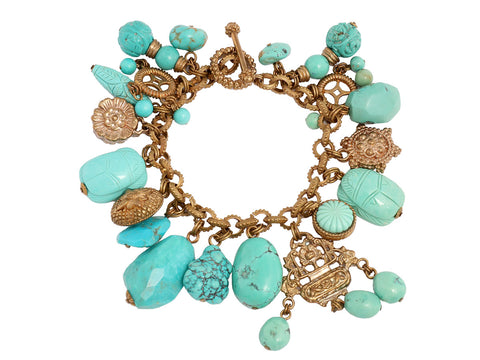 Stephen Dweck Turquoise Charm Bracelet