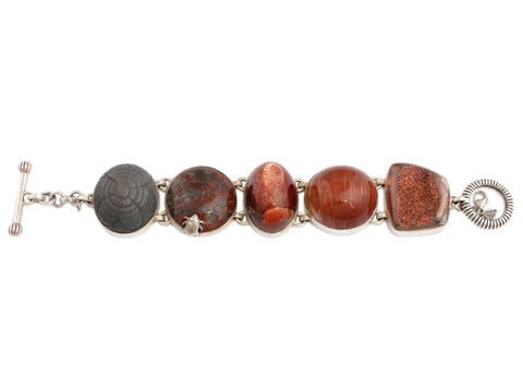 Stephen Dweck Sterling Silver and Multistone OAK One-of-a-Kind Bracelet