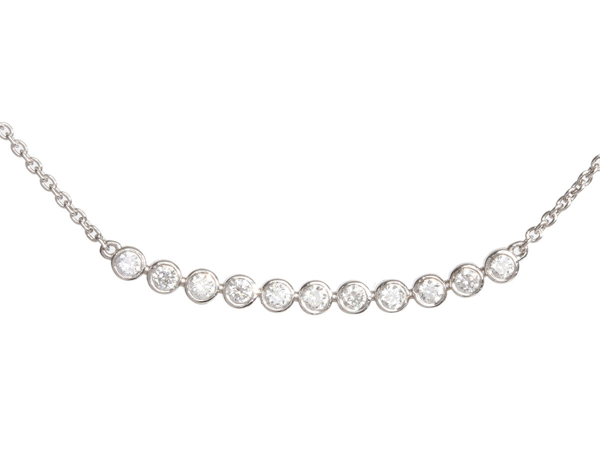 Sydney Evan 14K White Gold Diamond Bar Necklace