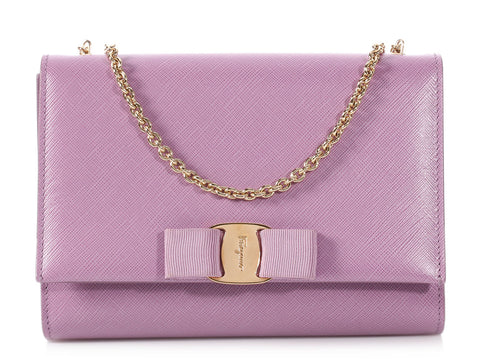 Salvatore Ferragamo Lavender Mini Miss Vera
