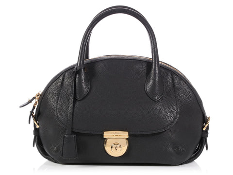 Ferragamo Medium Black Fiamma