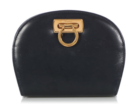 Ferragamo Vintage Mini Navy Crossbody Bag