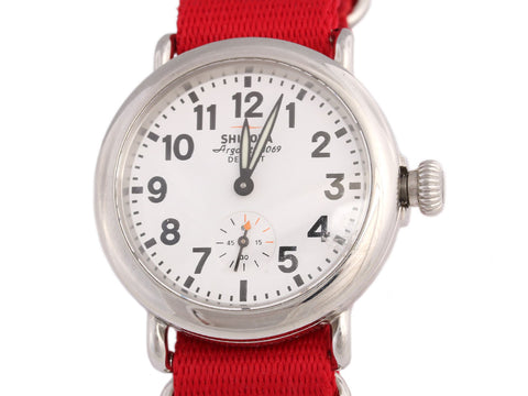 Shinola Stainless Steel Runwell Watch 38mm