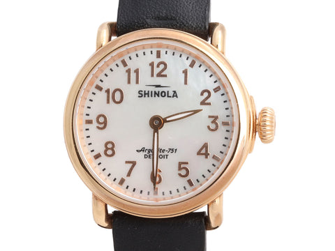 Shinola Rose Gold-Plated Ladies The Runwell Watch 28mm