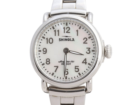 Shinola Stainless Steel Ladies The Runwell Watch 28mm