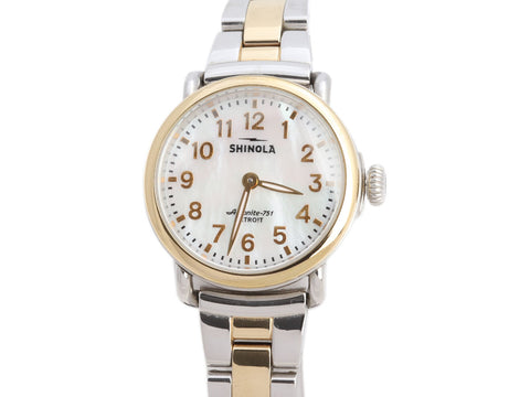Shinola Two-Tone Ladies The Runwell Watch 28mm
