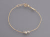 Kalan by Suzanne Kalan 14K Yellow Gold Diamond and Topaz Baguette Bar Bracelet