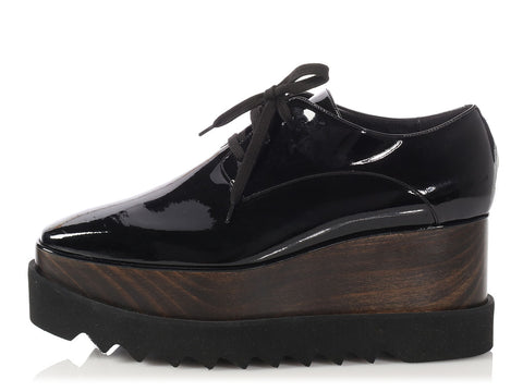 Stella McCartney Wooden Platform Elyse Wedges
