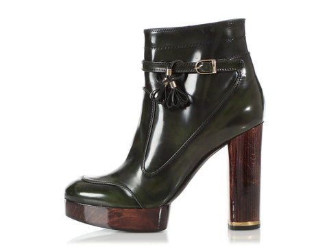 Stella McCartney Green and Brown Boots