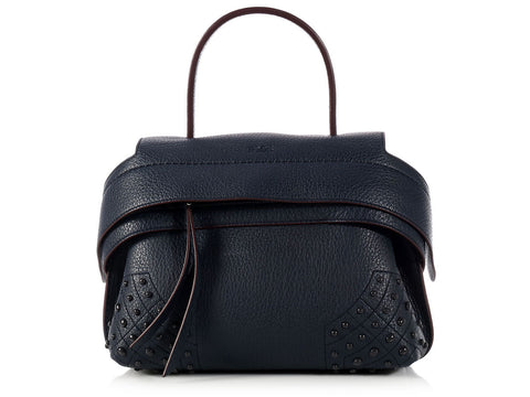 Tod's Navy Mini Wave Bag