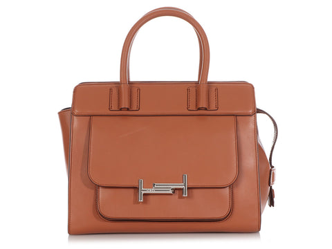 Tod's Tan Double T Bag