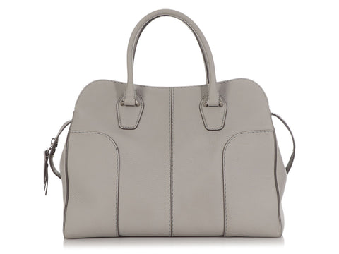 Tod's Large Light Gray Sella Bag