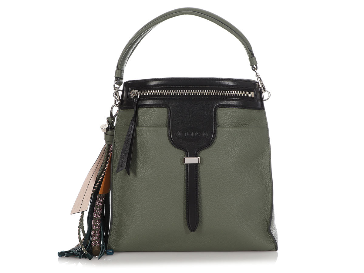 Tod's Sage Green Thea Bucket Bag