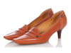 Tod's Orange Novak Moccasin Pumps
