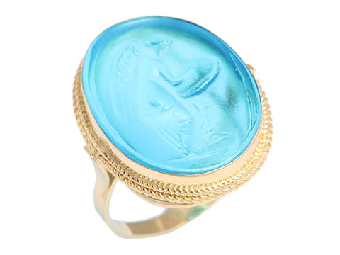 Tagliamonte Angel Venetian Glass Ring