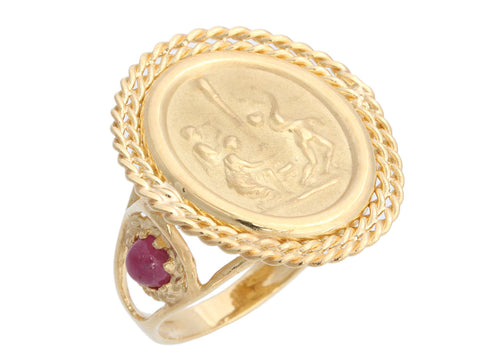 Tagliamonte 18K Yellow Gold Ruby Maypole Ring