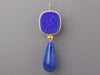 Tagliamonte Gold-Washed Sterling Silver Blue Venetian Glass Cameo and Lapis Drop Pierced Earrings