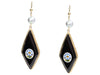 Tagliamonte Gold-Washed Sterling Silver Micromosaic Pierced Drop Earrings