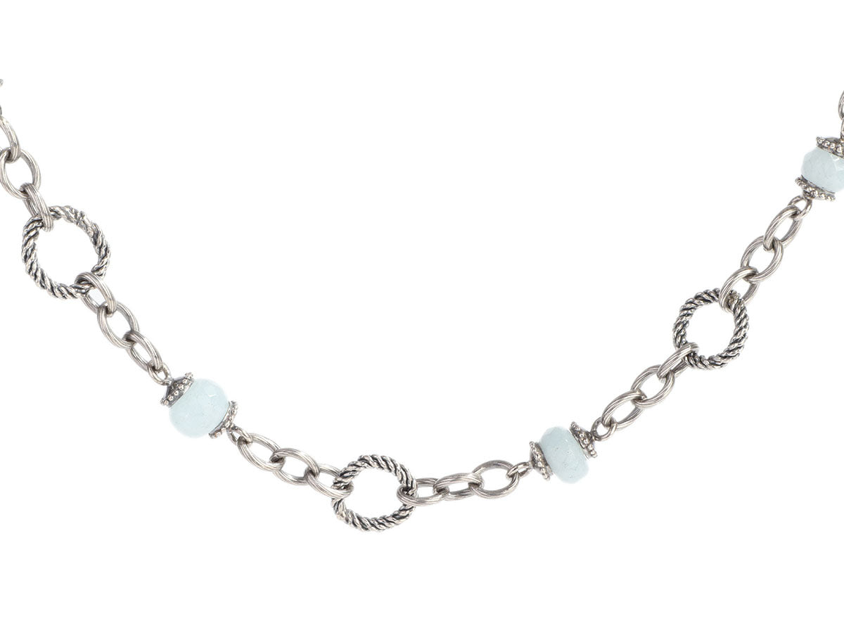 Tagliamonte Sterling Silver Aquamarine Link Necklace