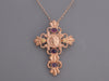 Tagliamonte Rose Gold-Washed Sterling Silver Medusa Cross Pendant Necklace
