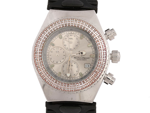 TechnoMarine TechnoSport Unisex Diamond Watch