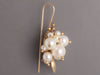 Ted Muehling Pearl Bug Cluster Pierced Earrings