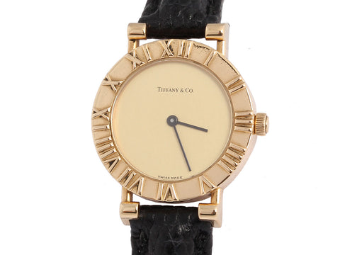Tiffany & Co. 18K Yellow Gold Lady Atlas Watch