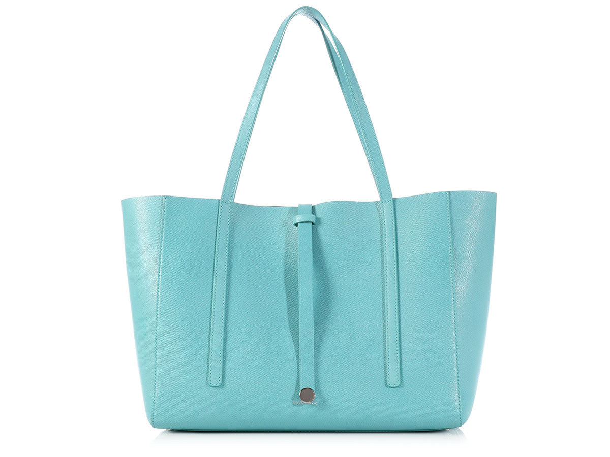 Tiffany & Co. Blue Leather Tote