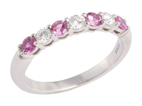 Tiffany & Co. Pink Sapphire and Diamond Band