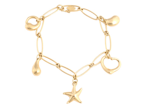 Tiffany & Co. Gold Charm Bracelet