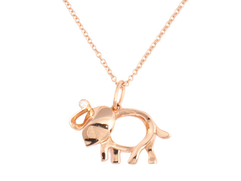 Tiffany & Co. Gold Elephant Necklace