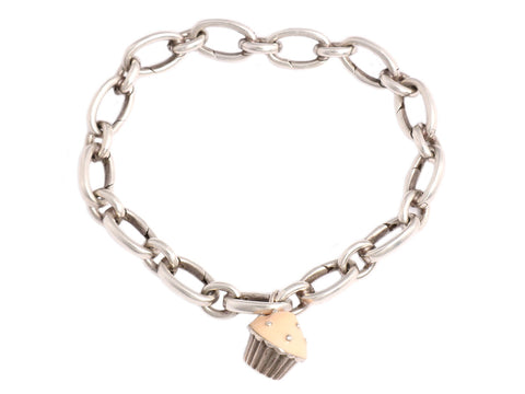 Tiffany & Co. Cupcake Charm Bracelet