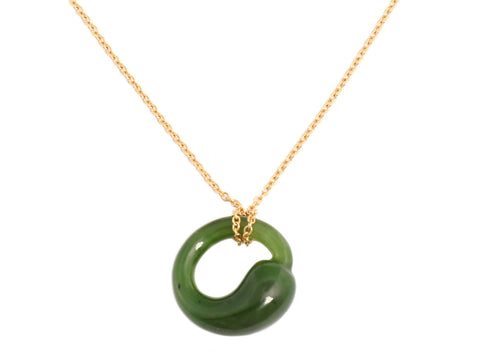 Tiffany & Co. Jade Eternal Circle Necklace