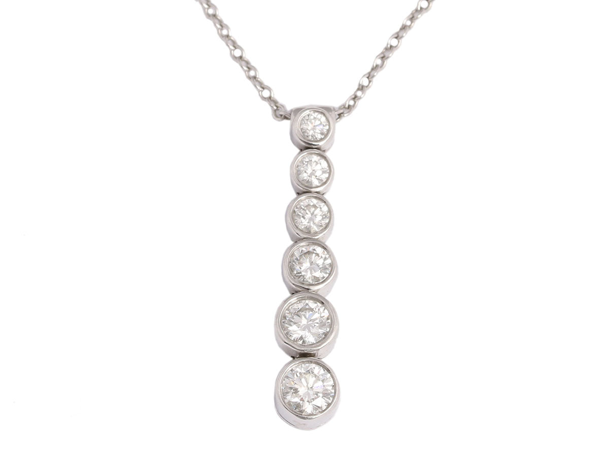 ct necklaces tennis graduated gardens diamond round prong necklace product inch inc c